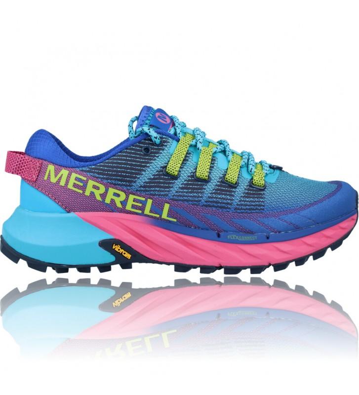 Calzados Vesga Zapatillas Deportivas Correr Trail Running para Mujer de Merrell Agility Peak 4 color azul y rosa foto 1