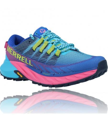 Calzados Vesga Zapatillas Deportivas Correr Trail Running para Mujer de Merrell Agility Peak 4 color azul y rosa foto 2
