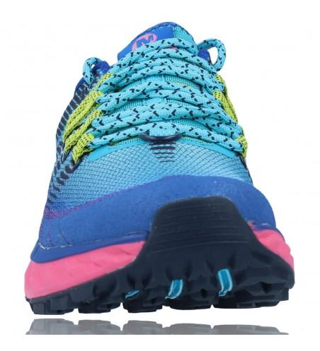 Calzados Vesga Zapatillas Deportivas Correr Trail Running para Mujer de Merrell Agility Peak 4 color azul y rosa foto 3
