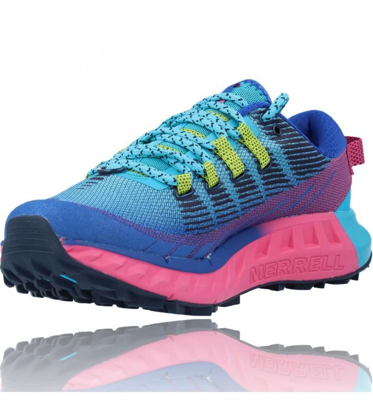 Calzados Vesga Zapatillas Deportivas Correr Trail Running para Mujer de Merrell Agility Peak 4 color azul y rosa foto 4