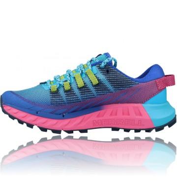 Calzados Vesga Zapatillas Deportivas Correr Trail Running para Mujer de Merrell Agility Peak 4 color azul y rosa foto 5