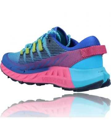 Calzados Vesga Zapatillas Deportivas Correr Trail Running para Mujer de Merrell Agility Peak 4 color azul y rosa foto 6