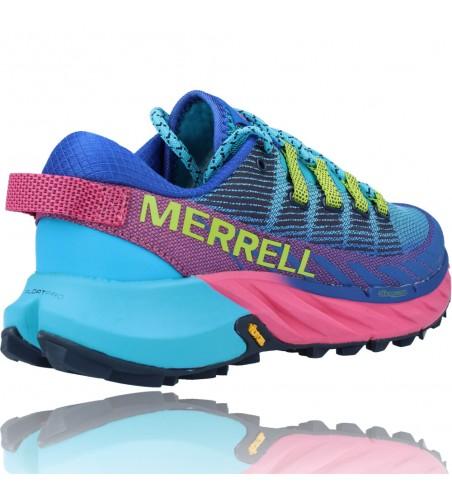 Calzados Vesga Zapatillas Deportivas Correr Trail Running para Mujer de Merrell Agility Peak 4 color azul y rosa foto 8