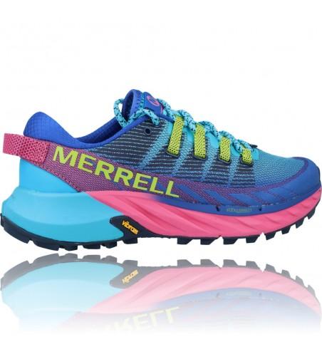 Calzados Vesga Zapatillas Deportivas Correr Trail Running para Mujer de Merrell Agility Peak 4 color azul y rosa foto 9