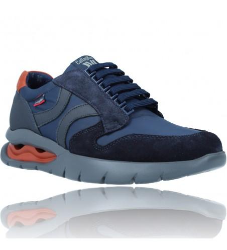 Calzados Vesga Zapatos Deportivos de Piel con Cordones para Hombre de Callaghan Adaptaction 45405 Vento color azul foto 2