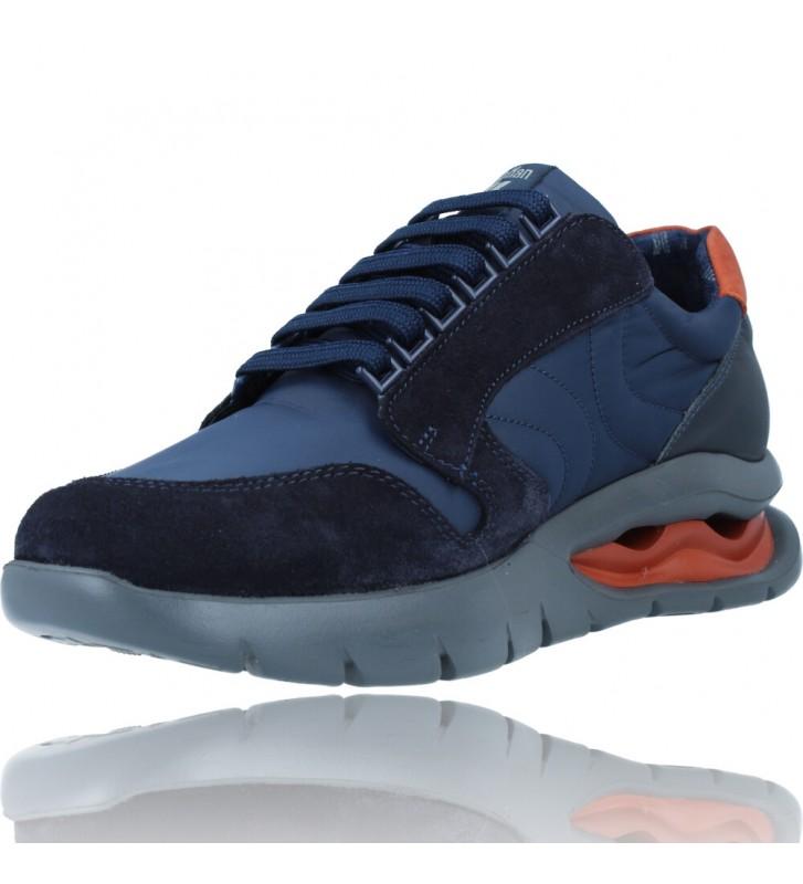 Calzados Vesga Zapatos Deportivos de Piel con Cordones para Hombre de Callaghan Adaptaction 45405 Vento color azul foto 4