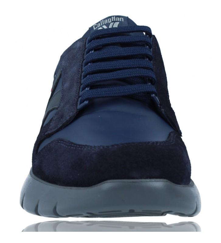 Calzados Vesga Zapatos Deportivos de Piel con Cordones para Hombre de Callaghan Adaptaction 45405 Vento color azul foto 3