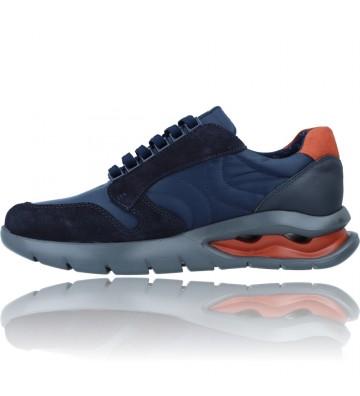 Calzados Vesga Zapatos Deportivos de Piel con Cordones para Hombre de Callaghan Adaptaction 45405 Vento color azul foto 5