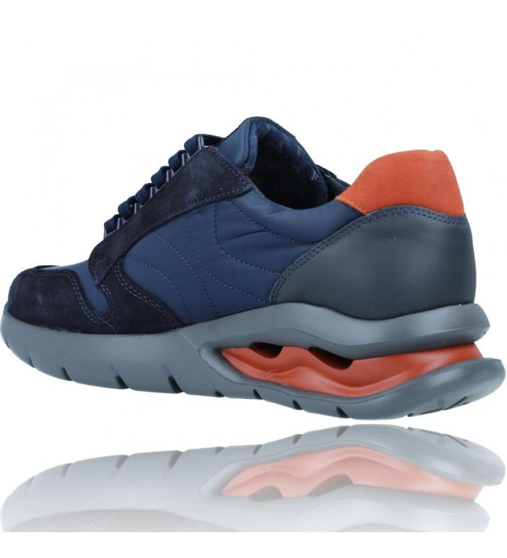 Calzados Vesga Zapatos Deportivos de Piel con Cordones para Hombre de Callaghan Adaptaction 45405 Vento color azul foto 6