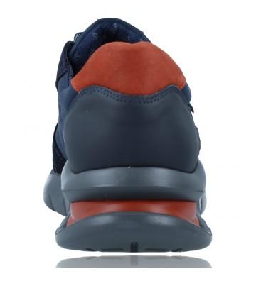 Calzados Vesga Zapatos Deportivos de Piel con Cordones para Hombre de Callaghan Adaptaction 45405 Vento color azul foto 7