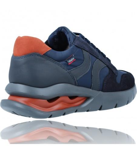 Calzados Vesga Zapatos Deportivos de Piel con Cordones para Hombre de Callaghan Adaptaction 45405 Vento color azul foto 8