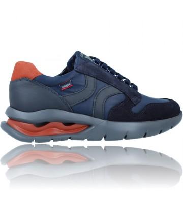 Calzados Vesga Zapatos Deportivos de Piel con Cordones para Hombre de Callaghan Adaptaction 45405 Vento color azul foto 9