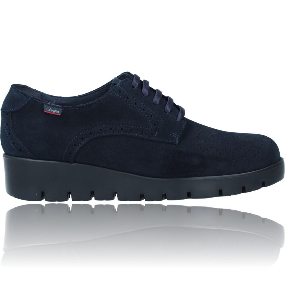 Calzados Vesga Zapatos Casual de Piel con Cordones para Mujer de Callaghan Adaptaction Haman 89880 color nobuck marino foto 1