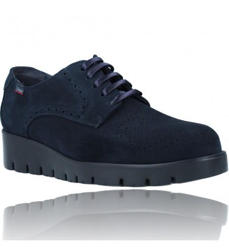 Calzados Vesga Zapatos Casual de Piel con Cordones para Mujer de Callaghan Adaptaction Haman 89880 color nobuck marino foto 2