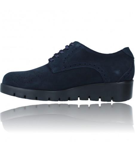 Calzados Vesga Zapatos Casual de Piel con Cordones para Mujer de Callaghan Adaptaction Haman 89880 color nobuck marino foto 5