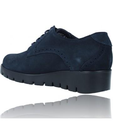 Calzados Vesga Zapatos Casual de Piel con Cordones para Mujer de Callaghan Adaptaction Haman 89880 color nobuck marino foto 6