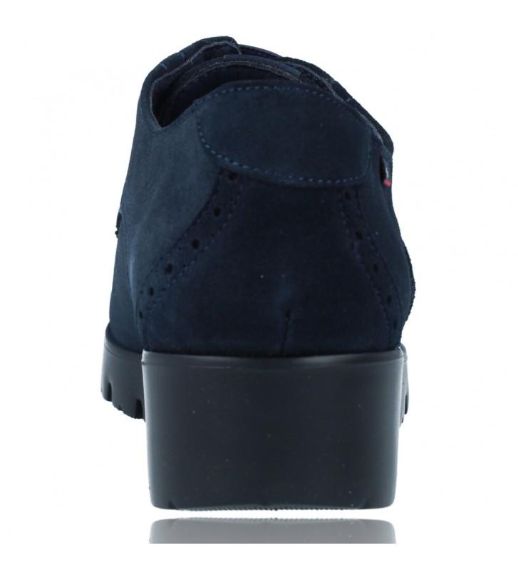 Calzados Vesga Zapatos Casual de Piel con Cordones para Mujer de Callaghan Adaptaction Haman 89880 color nobuck marino foto 7