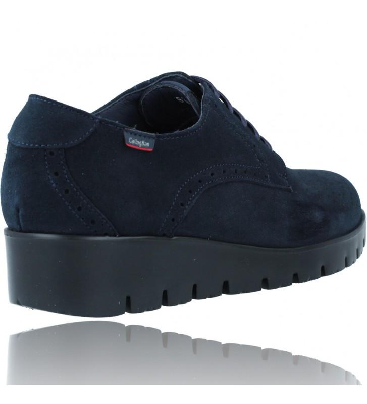 Calzados Vesga Zapatos Casual de Piel con Cordones para Mujer de Callaghan Adaptaction Haman 89880 color nobuck marino foto 8