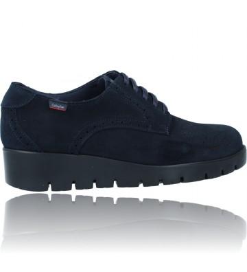 Calzados Vesga Zapatos Casual de Piel con Cordones para Mujer de Callaghan Adaptaction Haman 89880 color nobuck marino foto 9