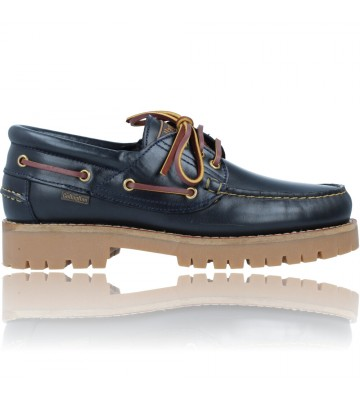 Calzados Vesga Zapatos Náuticos Casual de Piel para Hombres de Callaghan 21910 Timber Cro color marino foto 1