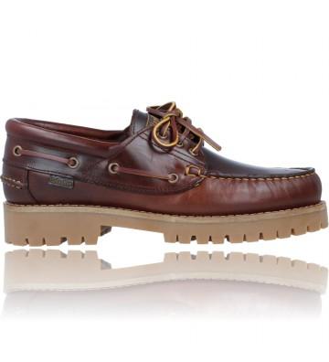 Calzados Vesga Zapatos Náuticos Casual de Piel para Hombres de Callaghan 21910 Timber Cro color marrón foto 1