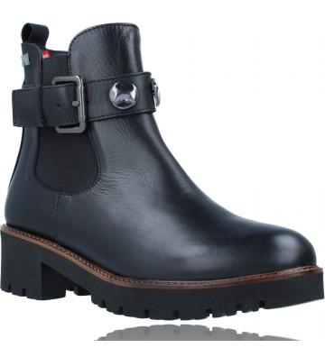 Calzados Vesga Botines Casual de Piel para Mujeres de Callaghan Adaptaction 13433 Freestyle color negro foto 2