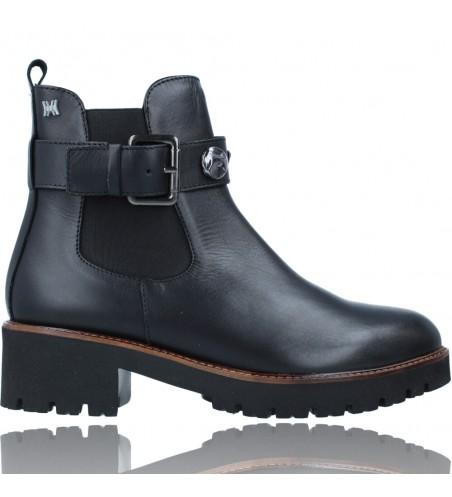 Calzados Vesga Botines Casual de Piel para Mujeres de Callaghan Adaptaction 13433 Freestyle color negro foto 1