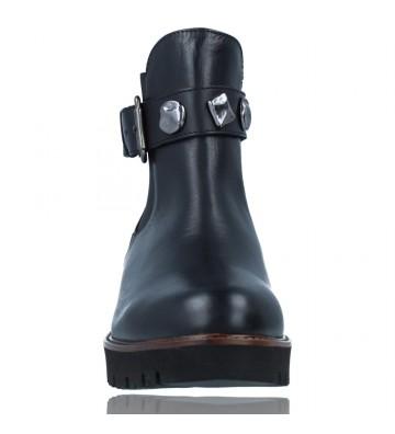 Calzados Vesga Botines Casual de Piel para Mujeres de Callaghan Adaptaction 13433 Freestyle color negro foto 3