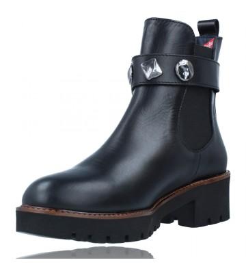 Calzados Vesga Botines Casual de Piel para Mujeres de Callaghan Adaptaction 13433 Freestyle color negro foto 4