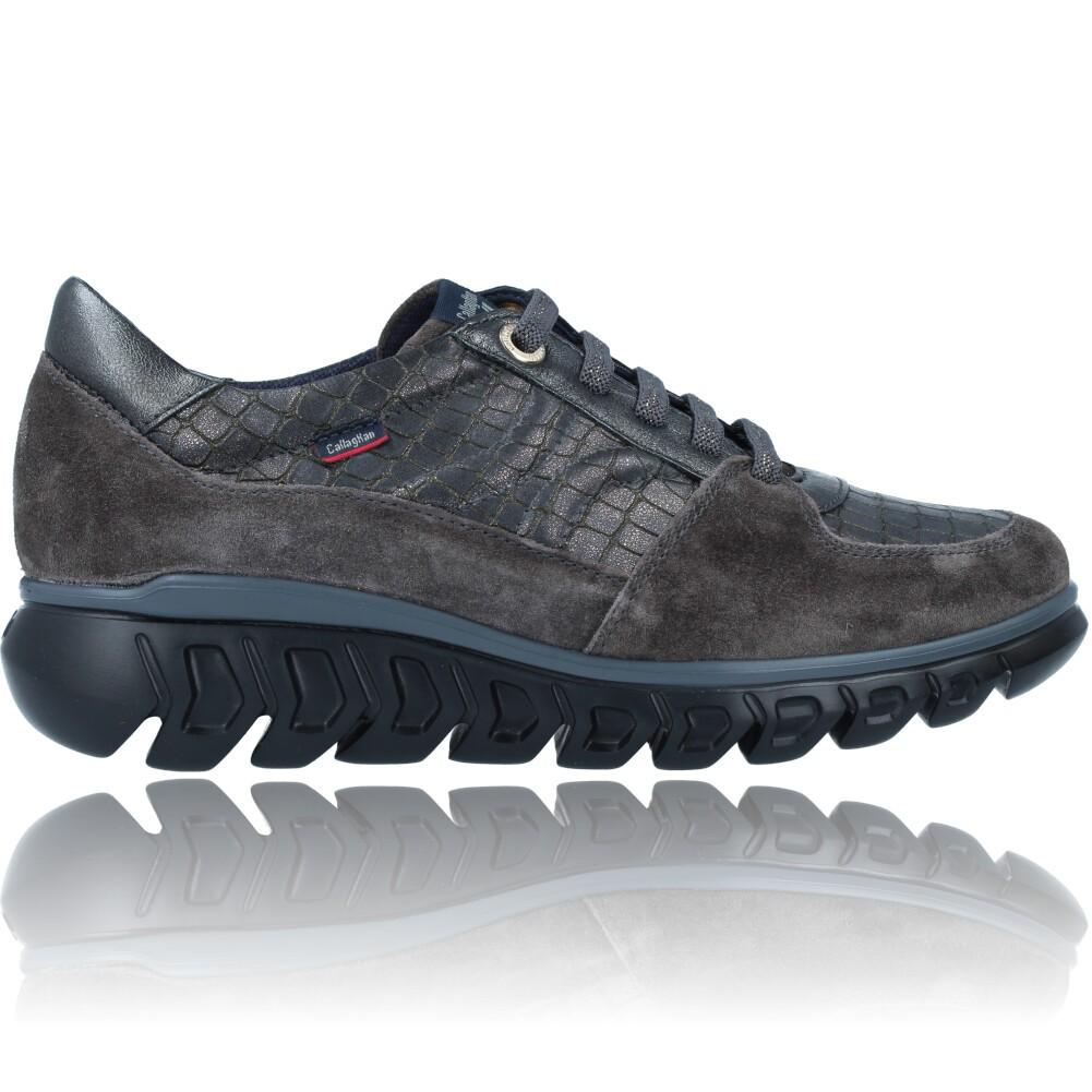 Calzados Vesga Zapatillas Deportivas Casual de Piel para Mujer de Callaghan Sirena 13920 color nobuck gris foto 1