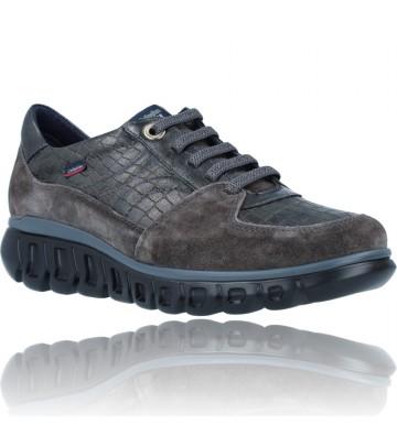 Calzados Vesga Zapatillas Deportivas Casual de Piel para Mujer de Callaghan Sirena 13920 color nobuck gris foto 2