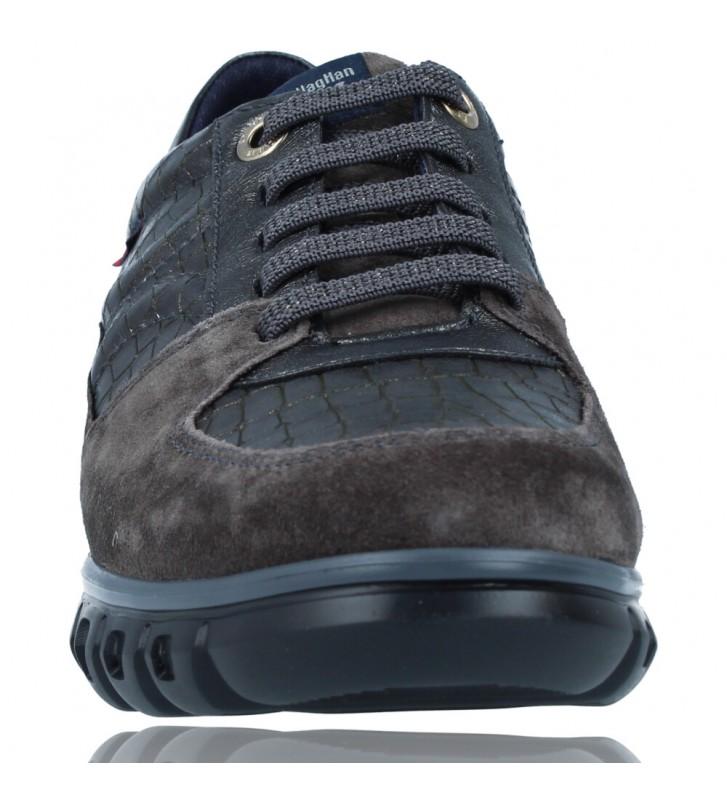 Calzados Vesga Zapatillas Deportivas Casual de Piel para Mujer de Callaghan Sirena 13920 color nobuck gris foto 3