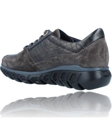Calzados Vesga Zapatillas Deportivas Casual de Piel para Mujer de Callaghan Sirena 13920 color nobuck gris foto 6
