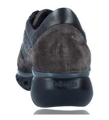 Calzados Vesga Zapatillas Deportivas Casual de Piel para Mujer de Callaghan Sirena 13920 color nobuck gris foto 7