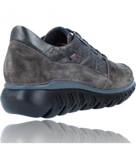 Calzados Vesga Zapatillas Deportivas Casual de Piel para Mujer de Callaghan Sirena 13920 color nobuck gris foto 8