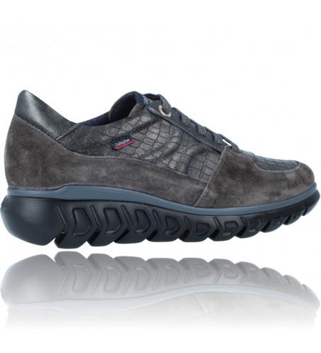 Calzados Vesga Zapatillas Deportivas Casual de Piel para Mujer de Callaghan Sirena 13920 color nobuck gris foto 9