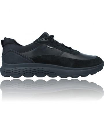 Calzados Vesga Zapatillas Deportivas Casual de Piel para Hombre de Geox Spherica U16BYE color negro foto 1