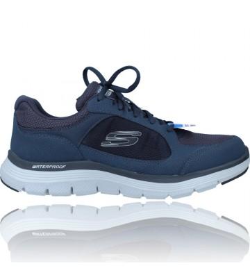 Calzados Vesga Zapatillas Deportivas de Piel Waterproof para Hombres de Skechers 232235 Flex Advantage 4.0 color marino foto 1