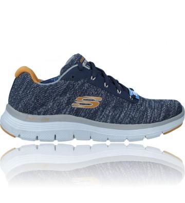 Calzados Vesga Zapatillas Deportivas para Hombre de Skechers Flex Advantage 4.0 Neptis 232235 color gris y mostaza foto 1