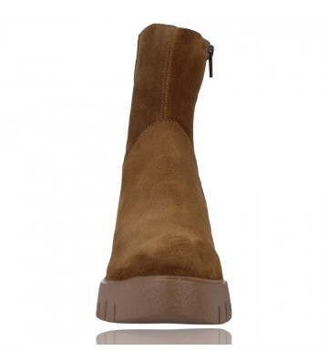 Calzados Vesga Botines Casual de Piel Hidrofugada para Mujeres de Wonders Aitana E-6232 color serraje arena foto 3
