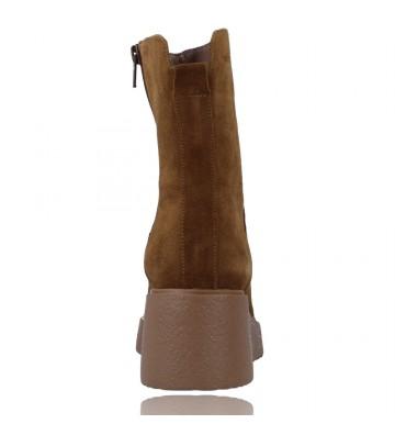 Calzados Vesga Botines Casual de Piel Hidrofugada para Mujeres de Wonders Aitana E-6232 color serraje arena foto 7