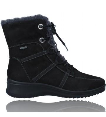 Calzados Vesga Botas Casual con Cordones y Gore-Tex para Mujeres de Ara Shoes Munchen 12-48554 color negro foto 1