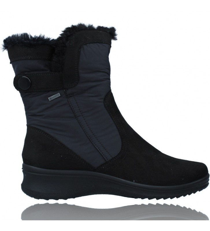 Calzados Vesga Botas Casual con Gore-Tex para Mujeres de Ara Shoes Munchen 12-48503 color negro foto 1