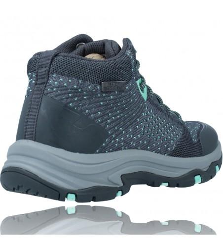 Calzados Vesga Botines Casual Water Repellent Para Mujer de Skechers 158351 Trego color gris foto 8