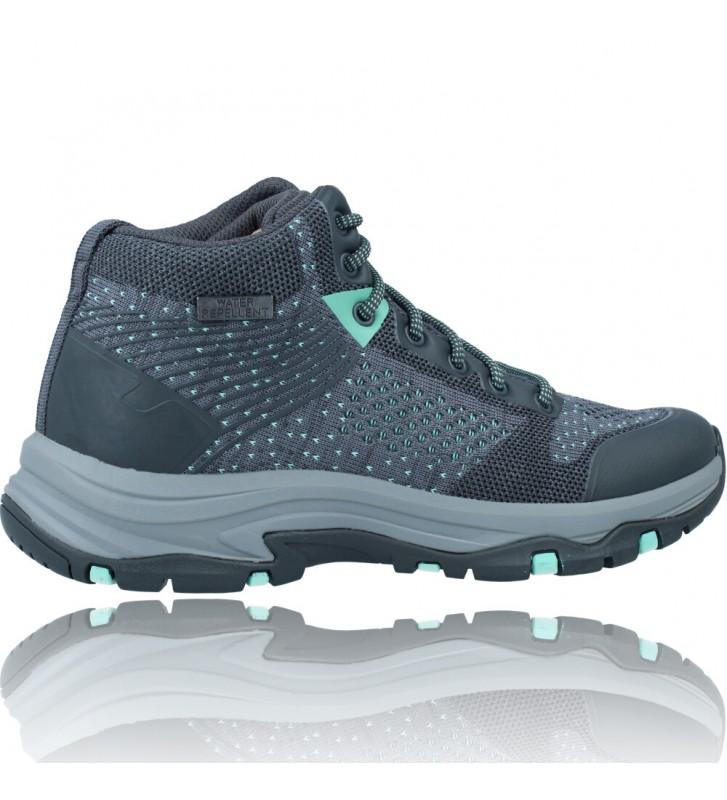 Calzados Vesga Botines Casual Water Repellent Para Mujer de Skechers 158351 Trego color gris foto 9
