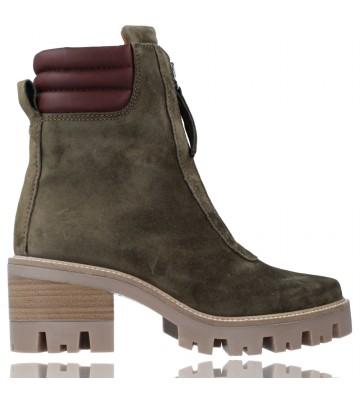 Calzados Vesga Botines Casual de Piel con Cremallera para Mujer de Alpe 2031 Bryce color verde foto 1