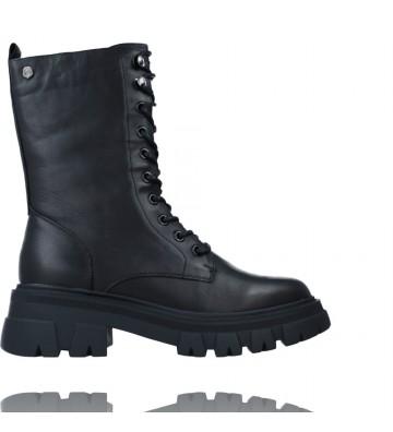 Calzados Vesga Botas Casual Militares de Piel con Cordones para Mujer de Carmela 68176 color negro foto 1