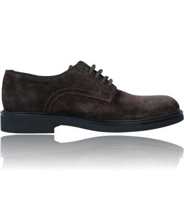 Calzados Vesga Zapatos Blucher de Piel con cordones para Hombres de Luis Gonzalo 7945H color marrón foto 1