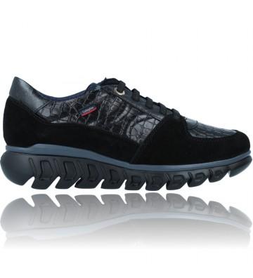 Calzados Vesga Zapatillas Deportivas Casual de Piel para Mujer de Callaghan Sirena 13920 color nobuck negro foto 1