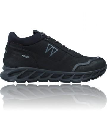 Calzados Vesga Zapatillas Deportivas Casual de Piel con GTX para Hombre de Igi&Co 81384 color negro foto 1